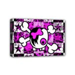 Emo Scene Girl Skull Mini Canvas 6  x 4  (Stretched)