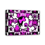 Emo Scene Girl Skull Mini Canvas 7  x 5  (Stretched)