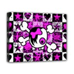 Emo Scene Girl Skull Canvas 10  x 8  (Stretched)