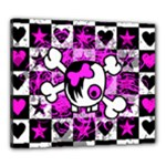 Emo Scene Girl Skull Canvas 24  x 20  (Stretched)