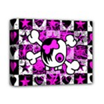 Emo Scene Girl Skull Deluxe Canvas 14  x 11  (Stretched)