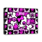 Emo Scene Girl Skull Deluxe Canvas 16  x 12  (Stretched)