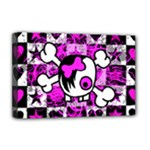 Emo Scene Girl Skull Deluxe Canvas 18  x 12  (Stretched)