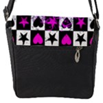 Emo Scene Girl Skull Flap Closure Messenger Bag (S)