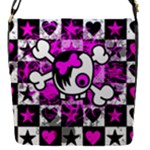Emo Scene Girl Skull Removable Flap Cover (S)