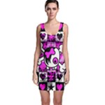 Emo Scene Girl Skull Bodycon Dress