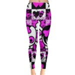 Emo Scene Girl Skull Leggings
