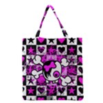 Emo Scene Girl Skull Grocery Tote Bag