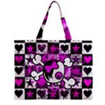 Emo Scene Girl Skull Mini Tote Bag