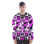 Emo Scene Girl Skull Men s Hooded Windbreaker