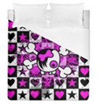 Emo Scene Girl Skull Duvet Cover (Queen Size)