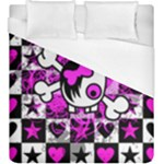 Emo Scene Girl Skull Duvet Cover (King Size)