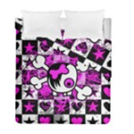 Emo Scene Girl Skull Duvet Cover Double Side (Full/ Double Size)