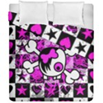 Emo Scene Girl Skull Duvet Cover Double Side (California King Size)