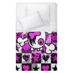 Emo Scene Girl Skull Duvet Cover (Single Size)