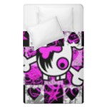 Emo Scene Girl Skull Duvet Cover Double Side (Single Size)