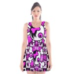 Emo Scene Girl Skull Scoop Neck Skater Dress