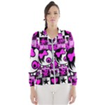 Emo Scene Girl Skull Women s Windbreaker