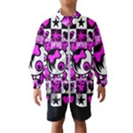 Emo Scene Girl Skull Kids  Windbreaker