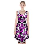 Emo Scene Girl Skull Racerback Midi Dress