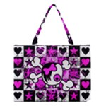 Emo Scene Girl Skull Medium Tote Bag