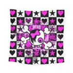 Emo Scene Girl Skull Square Tapestry (Small)