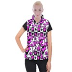 Emo Scene Girl Skull Women s Button Up Vest