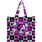 Emo Scene Girl Skull Canvas Travel Bag