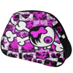 Emo Scene Girl Skull Full Print Accessory Pouch (Big)