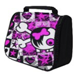 Emo Scene Girl Skull Full Print Travel Pouch (Small)