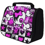 Emo Scene Girl Skull Full Print Travel Pouch (Big)