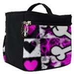 Emo Scene Girl Skull Make Up Travel Bag (Small)