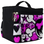 Emo Scene Girl Skull Make Up Travel Bag (Big)