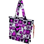 Emo Scene Girl Skull Drawstring Tote Bag