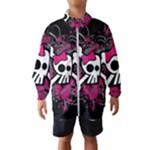 Girly Skull & Crossbones Kids  Windbreaker