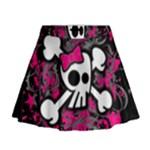 Girly Skull & Crossbones Mini Flare Skirt