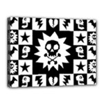 Gothic Punk Skull Canvas 16  x 12  (Stretched)