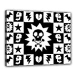 Gothic Punk Skull Canvas 20  x 16  (Stretched)