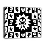Gothic Punk Skull Deluxe Canvas 20  x 16  (Stretched)