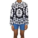 Gothic Punk Skull Kids  Long Sleeve Swimwear