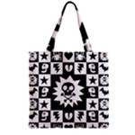 Gothic Punk Skull Grocery Tote Bag