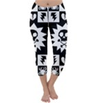 Gothic Punk Skull Capri Winter Leggings