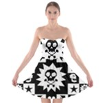 Gothic Punk Skull Strapless Bra Top Dress