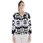 Gothic Punk Skull Women s Windbreaker