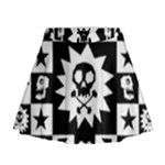 Gothic Punk Skull Mini Flare Skirt
