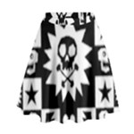 Gothic Punk Skull High Waist Skirt