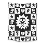 Gothic Punk Skull Medium Tapestry