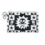 Gothic Punk Skull Canvas Cosmetic Bag (Medium)