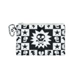 Gothic Punk Skull Canvas Cosmetic Bag (Small)