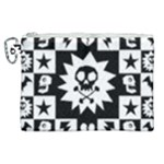 Gothic Punk Skull Canvas Cosmetic Bag (XL)
